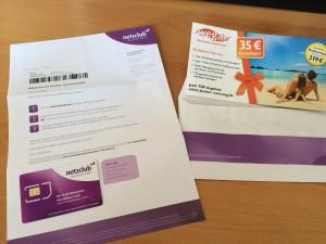 Der Brief mit der Netzclub SIM Karte